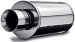 MagnaFlow Street Series Performance Muffler - Universal - Stainless Steel - Mirror Finish