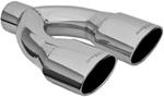 "MagnaFlow 3-1/2"" x 5-1/2"" Exhaust Tip - Stainless, Weld-On for 3"" Tailpipe"