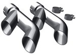 "MagnaFlow 2-1/4"" Exhaust Tips - Stainless, Clamp-On for 2-1/4 to 2-1/2"" Tailpipes - Qty 2"