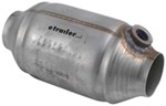 MagnaFlow Metallic Catalytic Converter - Spun Stainless Steel - Universal - California Approved