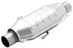 MagnaFlow Stainless Steel Catalytic Converter w/ Dual Air Tubes - Universal - California Approved