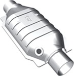 MagnaFlow Ceramic Catalytic Converter w/O2 Port - Stainless Steel - Universal - California Approved