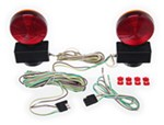 MaxxTow Magnetic Tow Lights - Red and Amber LEDs - 4-Way Flat Connectors - 20' Long Harness