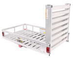 "MaxxTow 29x49 Cargo Carrier w/ 60"" Pivoting Ramp - 2"" Hitches - Aluminum - 500 lbs"