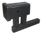 "MaxxTow Trailer Hitch Receiver Adapter - 1-1/4"" to 2"" Hitch - 4-1/2"" Rise"