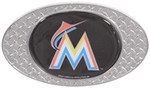 "Miami Marlins 2"" MLB Trailer Hitch Receiver Cover - Zinc"