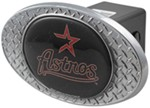 "Houston Astros 2"" MLB Trailer Hitch Receiver Cover - Zinc"