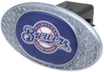 "Milwaukee Brewers 2"" MLB Trailer Hitch Receiver Cover - Zinc"