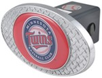 "Minnesota Twins 2"" MLB Trailer Hitch Receiver Cover - Zinc"