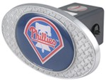 "Philadelphia Phillies 2"" MLB Trailer Hitch Receiver Cover - Zinc"