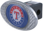 "Texas Rangers 2"" MLB Trailer Hitch Receiver Cover - Zinc"