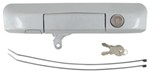 Pop & Lock Custom Locking Tailgate Handle - Manual - Silver