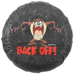 "Tasmanian Devil ""Back Off"" Spare Tire Cover - Water Resistant - 27"" to 31"""