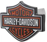 "Harley-Davidson Trailer Hitch Receiver Cover - 1-1/4"" and 2"" Hitches - Orange and White"