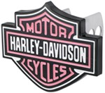 "Harley-Davidson Pink Trailer Hitch Receiver Cover - 1-1/4"" and 2"" Hitches - Aluminum"