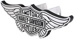 "Harley-Davidson Wings Trailer Hitch Cover - 1-1/4"" and 2"" Hitches - Brushed Aluminum"