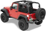 Pavement Ends Cab Curtain for Jeep - Black Diamond
