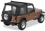 Pavement Ends Flip Top Soft Top for Jeep - w/ Sunroof and Soft Upper Doors - Black Denim