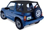 Pavement Ends Replay Soft Top Fabric for Tracker, Sidekick - Clear Windows - Black Denim