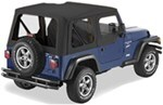 Pavement Ends Replay Soft Top Fabric for Jeep - Soft Upper Doors and Tinted Windows - Black Denim