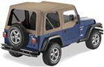 Pavement Ends Replay Soft Top Fabric for Jeep - Soft Upper Doors and Tinted Windows - Dark Tan