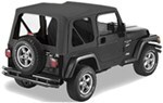 Pavement Ends Replay Soft Top Fabric for Jeep - Clear Windows - Doors Not Included - Black Denim