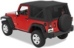 Pavement Ends Replay Soft Top Fabric for Jeep - Tinted Windows - Doors Not Included - Black Diamond
