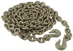 "Glacier Transport Chain w/ Grab Hooks - 3/8"" Diameter x 25"