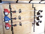 Pack'Em Trimmer Rack for Enclosed Trailers