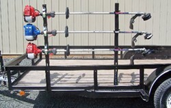 Pack'Em Trimmer Rack for Open Utility Trailers