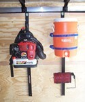 Pack'Em Rack for Enclosed Trailers - Holds 1 Backpack Blower, 1 Line Spool, 1 Round Cooler