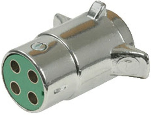Pollak Heavy-duty  4-pole  Round Pin Trailer Wiring Connector - Chrome
