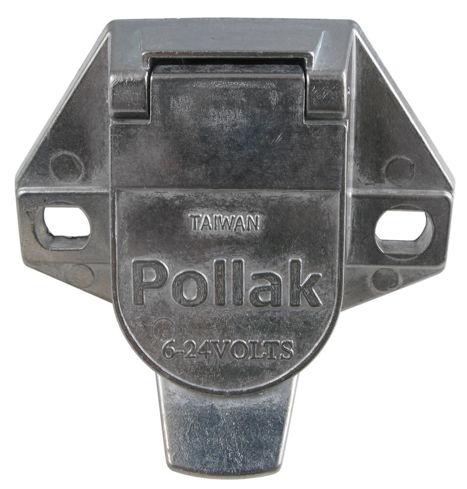 Pollak Heavy-duty  7-pole  Round Pin Trailer Wiring Socket
