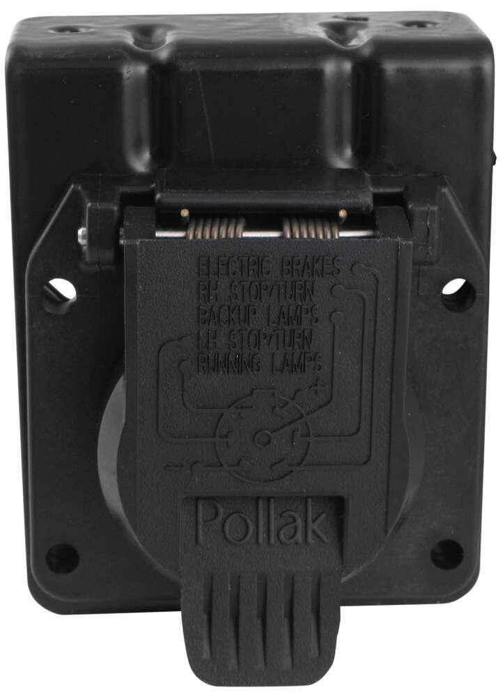pollak 7-pole, rv-style trailer connector socket w/ wiring ... pollak trailer wiring connector diagram #3