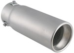 "Bully Round Resonated Bolt-on Exhaust Tip, 3-1/4"" Round, 9"" Long"