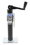"Pro Series Round, Pipe-Mount Swivel Jack w/ Footplate - Topwind - 10"" Lift - 2,000 lbs"