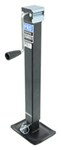 "Pro Series Square Jack with Footplate - Drop Leg - Sidewind - 15"" Lift - 8,000 lbs"