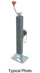 "Pro Series Square Swivel Jack w/ Round Pipe Mount - Topwind - 10"" Lift - 5,000 lbs"
