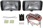 "OEM-Style Driving Light Kit - Halogen - 55 Watt - Rectangular, 5-5/8"" x 4"" - White - Qty 2"
