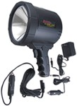 2-Million-CP Spotlight - Dual Power - Rechargeable w/ 12-Volt DC and 110-Volt AC Chargers - Black