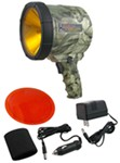 2-Million-CP Spotlight - Hand-Held, Cordless - Rechargeable w/ DC or AC - 3 Lens Colors - Camo