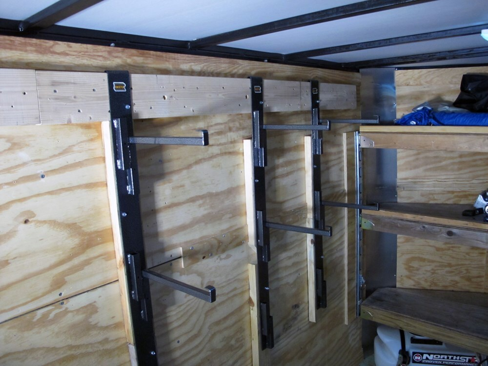 Side Wall Adjustable Shelf Supports For Enclosed Cargo