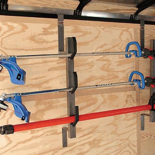 Trimmer Rack For Enclosed Cargo Trailers Rackem Trailer
