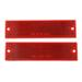 Rectangular Trailer Reflector, Adhesive and Screw Mount - Red (Qty 2)