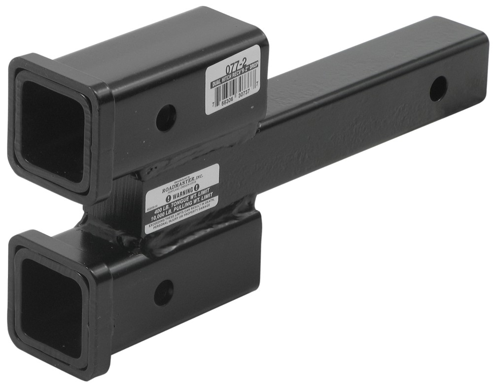 Roadmaster dual hitch receiver adapter for tow bars