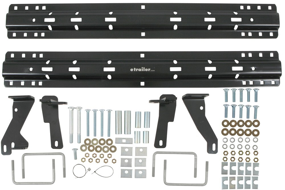 quick install custom base rails and installation kit for 5th wheel