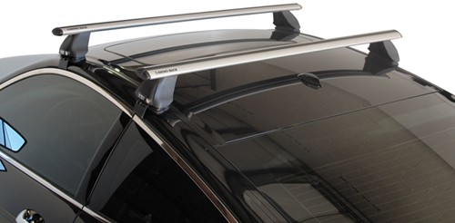 "DA126 Rhino-Rack 2500 Series Roof Rack with Aero Crossbars - 50"" Long - Silver"