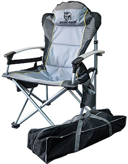 Rhino Rack Fold Out Camping Chair With Storage Bag Heavy