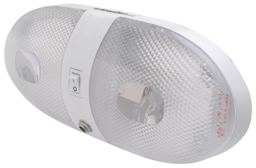 Rv Interior Light Female Socket Port On Off Switch Aero Style Double White Optronics