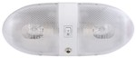 RV Interior Light - Female Socket Port, On/Off Switch - Aero Style - Double - White